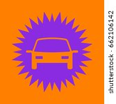 car icon. violet spiny circle... | Shutterstock .eps vector #662106142