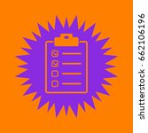 checklist icon. violet spiny... | Shutterstock .eps vector #662106196