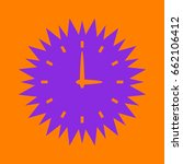 simple icon of clock. violet... | Shutterstock .eps vector #662106412
