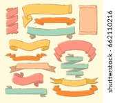colorful vector collection of... | Shutterstock .eps vector #662110216