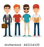 stylish man icon | Shutterstock .eps vector #662116135