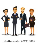 business people group standing... | Shutterstock .eps vector #662118835