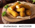 mozzarella cheese sticks with... | Shutterstock . vector #662121028