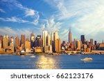 midtown manhattan skyline... | Shutterstock . vector #662123176