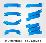 ribbon vector icon blue color... | Shutterstock .eps vector #662125255