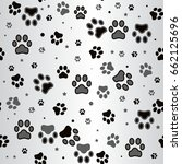 dog paw print and star seamless ... | Shutterstock .eps vector #662125696