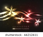 Abstract Floral Design With...
