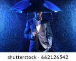 handsome man walking with an... | Shutterstock . vector #662126542