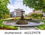 national opera in riga  latvia   Shutterstock . vector #662129578