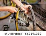 close up of a man pumping... | Shutterstock . vector #662141392