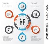 management icons set.... | Shutterstock .eps vector #662142022