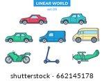 linear flat wheeled transport ...   Shutterstock .eps vector #662145178