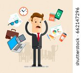 businessman's working day.  a... | Shutterstock .eps vector #662147296