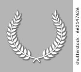 vector laurel wreath with... | Shutterstock .eps vector #662147626