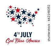 american independence day. 4th... | Shutterstock .eps vector #662148352