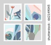 set of creative universal... | Shutterstock .eps vector #662149045