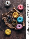 homemade colorful donuts on the ... | Shutterstock . vector #662150122