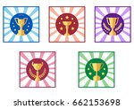 set icon cup and award ... | Shutterstock .eps vector #662153698