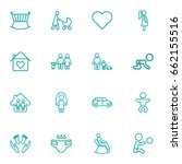 set of 16 people outline icons... | Shutterstock .eps vector #662155516
