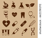 a set of icons for medicine....   Shutterstock .eps vector #662158192