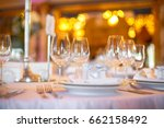wineglasses stand side by side... | Shutterstock . vector #662158492