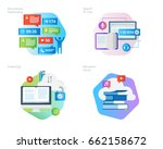 material design icons set for... | Shutterstock .eps vector #662158672