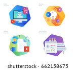 material design icons set for... | Shutterstock .eps vector #662158675