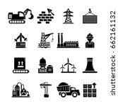 industry icons set. simple... | Shutterstock .eps vector #662161132