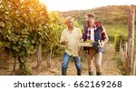 family in vineyard celebrating... | Shutterstock . vector #662169268