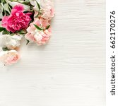 floral frame wreath made of... | Shutterstock . vector #662170276