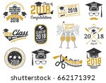 set of vector class of 2018... | Shutterstock .eps vector #662171392