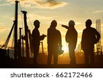silhouette teams engineer... | Shutterstock . vector #662172466