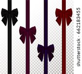 set of color decorative bow... | Shutterstock . vector #662183455