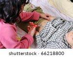 girl   boy playing like a doctor | Shutterstock . vector #66218800