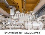 gas booster compressor on... | Shutterstock . vector #662202955