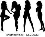 black silhouettes of beautiful... | Shutterstock .eps vector #6622033