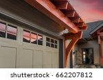 beautiful luxury home exterior...   Shutterstock . vector #662207812