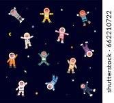 astronaut character space... | Shutterstock .eps vector #662210722
