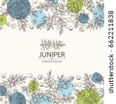background with juniper ... | Shutterstock .eps vector #662211838