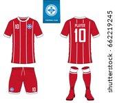 set of short sleeve soccer... | Shutterstock .eps vector #662219245