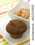 Small photo of Bran Muffin and Cereal Bowl