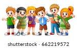 vector illustration of happy... | Shutterstock .eps vector #662219572