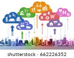 internet of things iot  and... | Shutterstock . vector #662226352