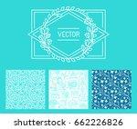 vector set of design elements... | Shutterstock .eps vector #662226826