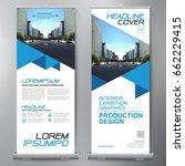 business roll up. standee... | Shutterstock .eps vector #662229415