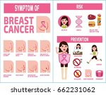breast cancer infographic... | Shutterstock .eps vector #662231062