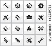 set of 16 editable toolkit... | Shutterstock .eps vector #662239756