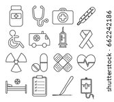 set of medical line icon vector ... | Shutterstock .eps vector #662242186