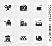 set of 9 editable holiday icons....