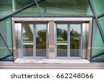 aluminuim door and transparency ... | Shutterstock . vector #662248066